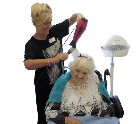 Hairdressing at our care home